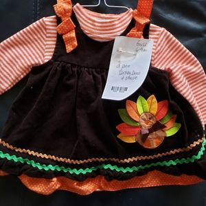 Girls Turkey outfit holiday